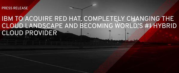 IBM und Red Hat Pressemeldung von Red Hat zur Übernahme