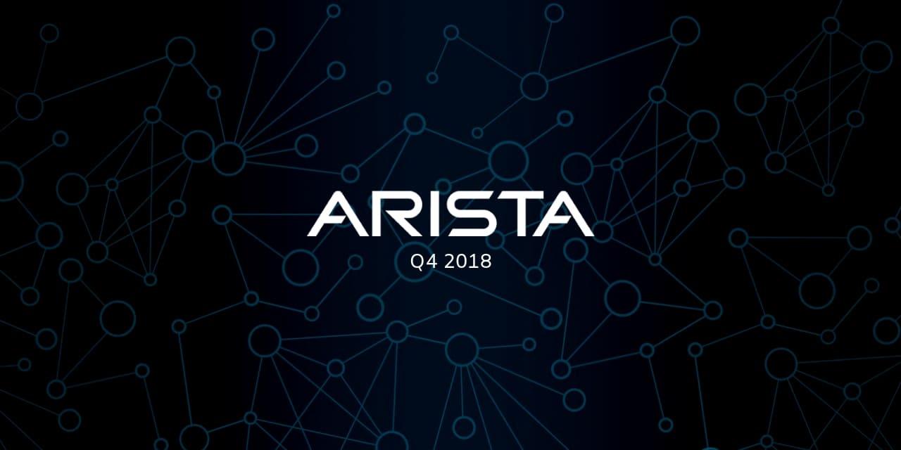 Arista Boom Q4 2018