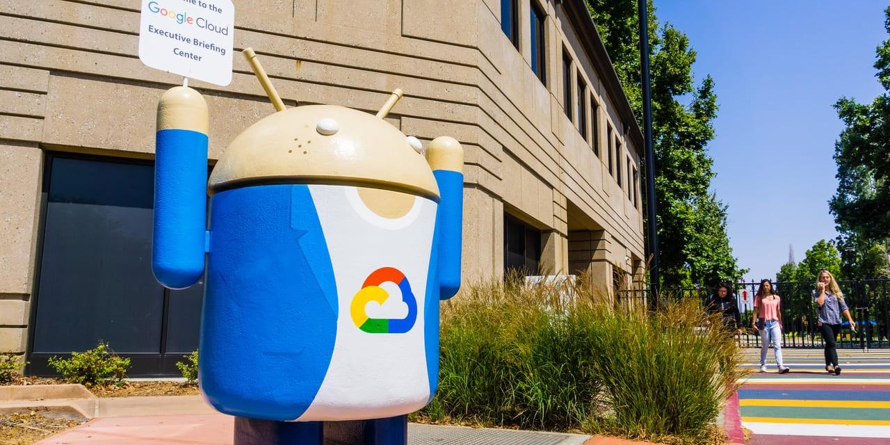 Google Cloud geht auf Shopping-Tour - Figur der Google Cloud