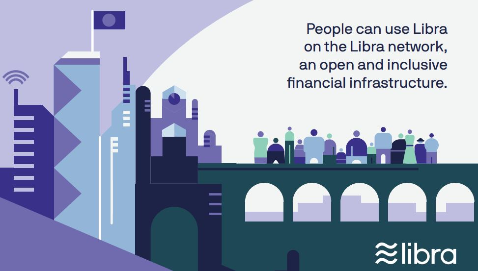 Facebook Währung Libra - Grafik jeder kann Libra offen nutzen auch ohne Calibra Plattform