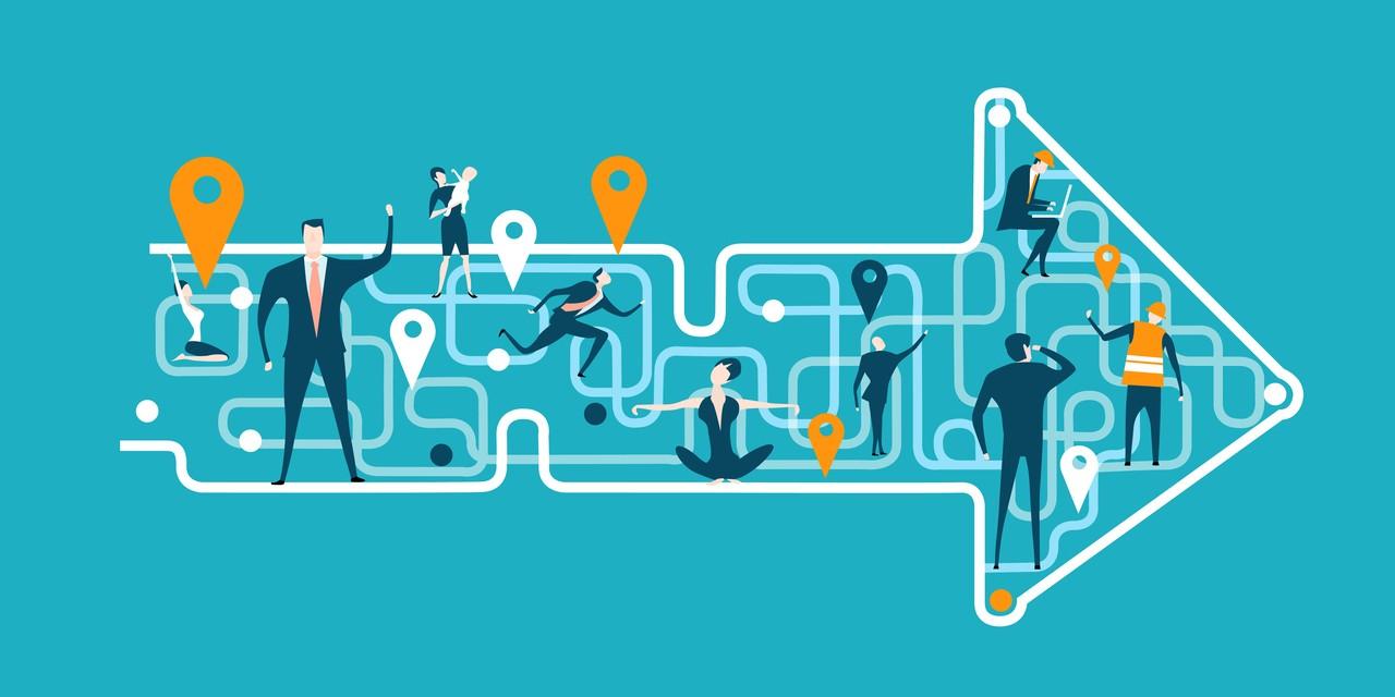 Unternehmenskultur – Die Parallelgesellschaften von Altparteien und Altunternehmen - Pfeil Illustration