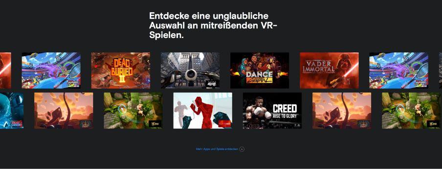 Facebook Q2 Zahlen Übersicht mit Facebook VR Spielen