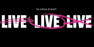 Pluralsight Aktie Crash - Logo mit drei Live Schriftzügen
