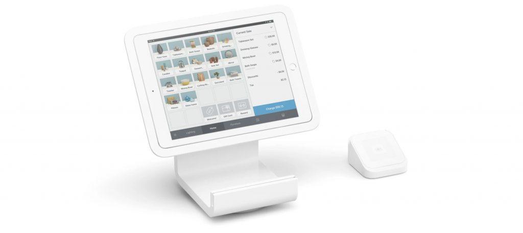 Square Aktie - Bild von Square Stand mit Anschluss für iPad