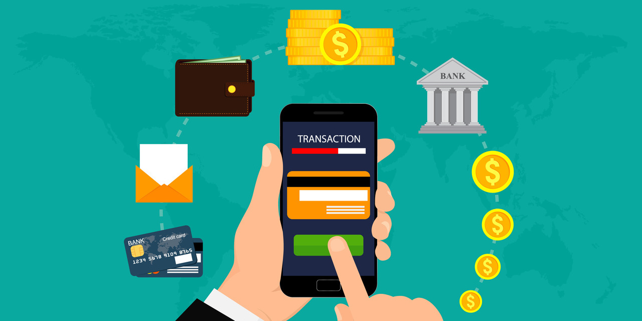 App Nutzung Mobile Banking - Illustration