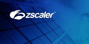 Zscaler Aktie - Logo auf blauem Hintergrund