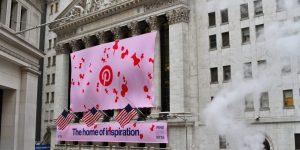 Pinterest Aktie - Bannerwerbung von Pinterest an der NYSE