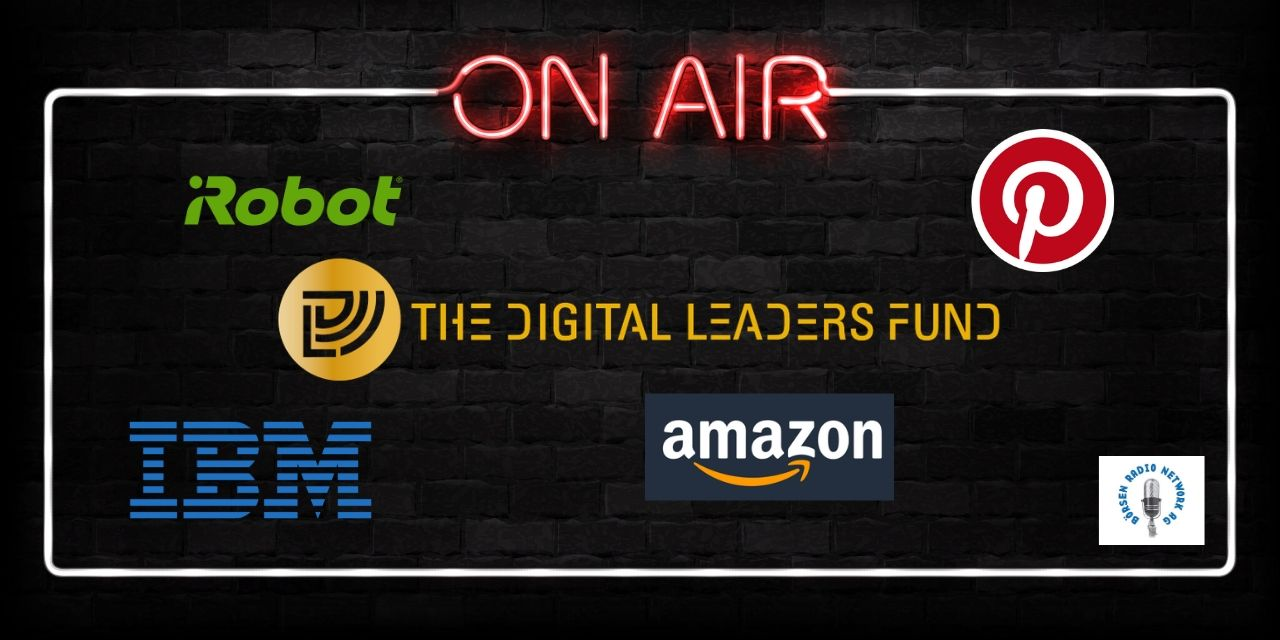 Amazon, IBM, iRobot, Pinterest - On Air mit Logos der Unternehmen