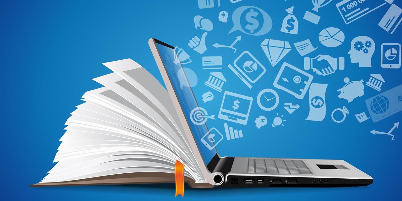 Pluralsight Aktie invesieren - E-Learning Bild mit Laptop und Buch