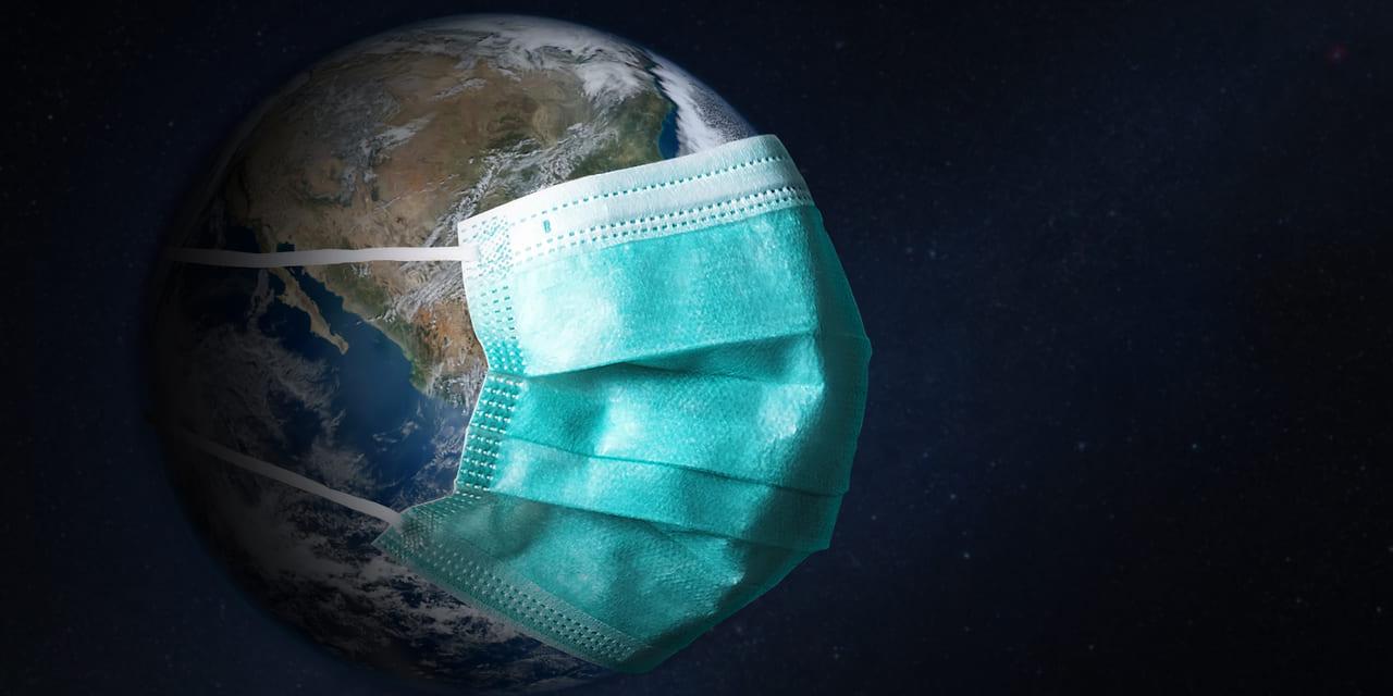 Corona Pandemie - Wie könnte die Welt danach aussehen - Bild von Erdkugel mit Mundschutz