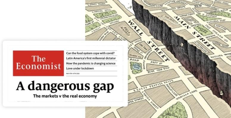 A dangerous Gap zwischen Main Street und Wall Street - Economist