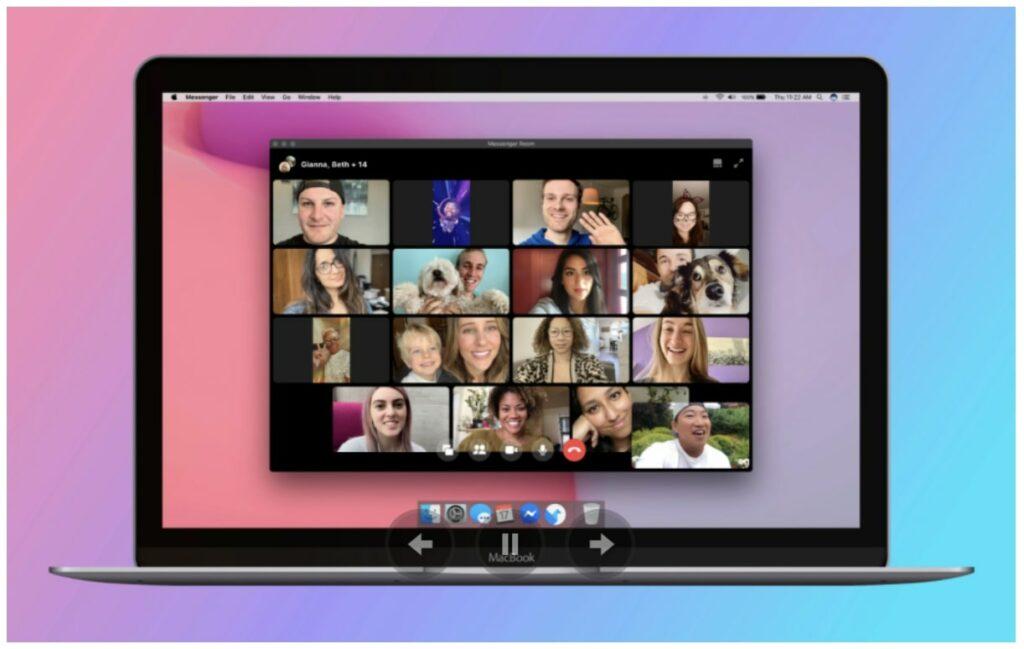 Facebook sagt Zoom den Kampf an - Bildschrim mit Video Chat
