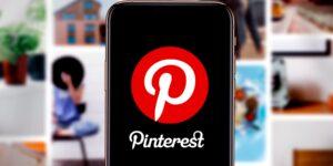 Pinterest Kostenexplosion verschreckt Investoren - Handy mit App und Bildern im Hintergrund