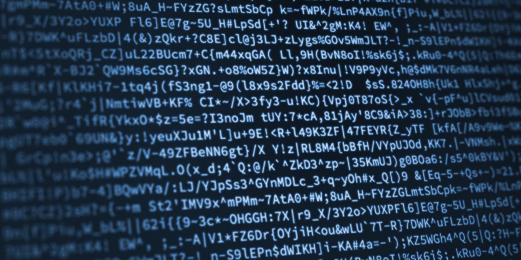 Wirecard ist eine Dauerwette auf die Glaubwürdigkeit des Managements - Programmier Code auf dunklem Hintergrund