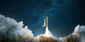 Elastic Aktie neue Produktstrategie - Rakete startet mit viel Dampf in den Sternenhimmel