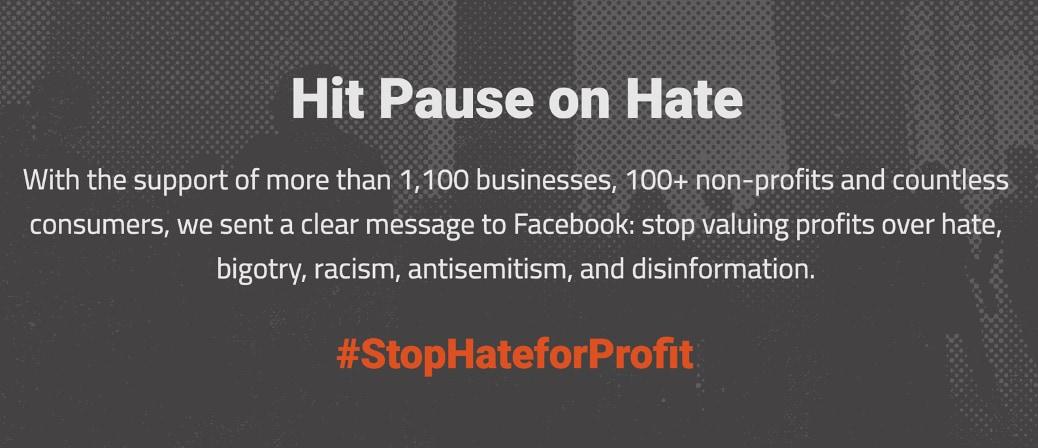 #StopHateforProfit Kampagne gegen Facebook