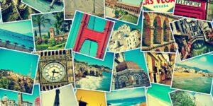 Pinterest Aktie Kursexplosion - Collage mit Bildern aus aller Welt