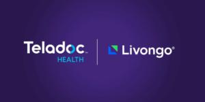 Teladoc Livongo Fusion - Bild von beiden Unternehmenslogos nebeneinander