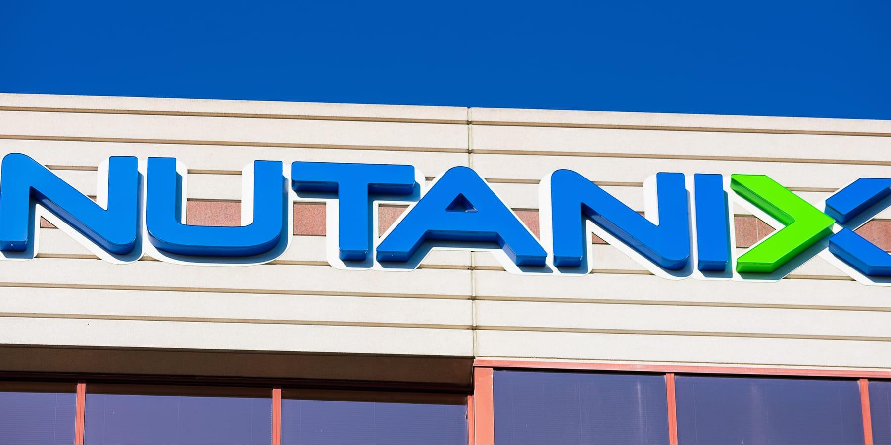 Nutanix Aktie Kurssprung nach CEO-Rückzug - Bild von Logo an Firmengebäude