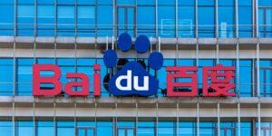 Baidu Logo auf Firmengebäude aus Glas