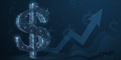 Arista Aktie Befreiungsschlag Wachstum Pfeil digital mit Dollar Zeichen
